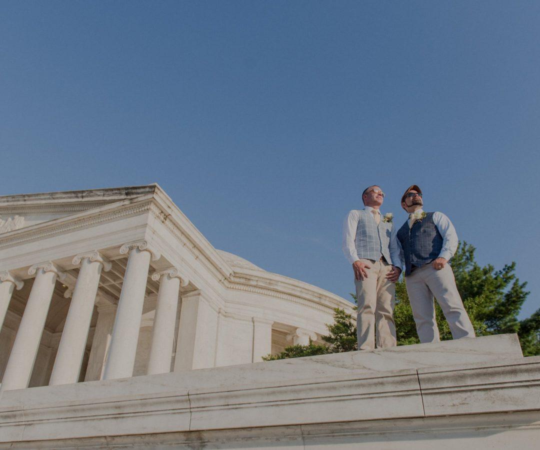Jefferson Memorial LGBT Gay Same Sex Wedding