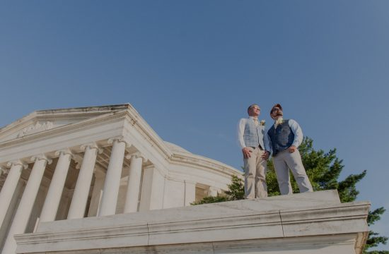 Jefferson Memorial LGBT Gay Same Sex Wedding