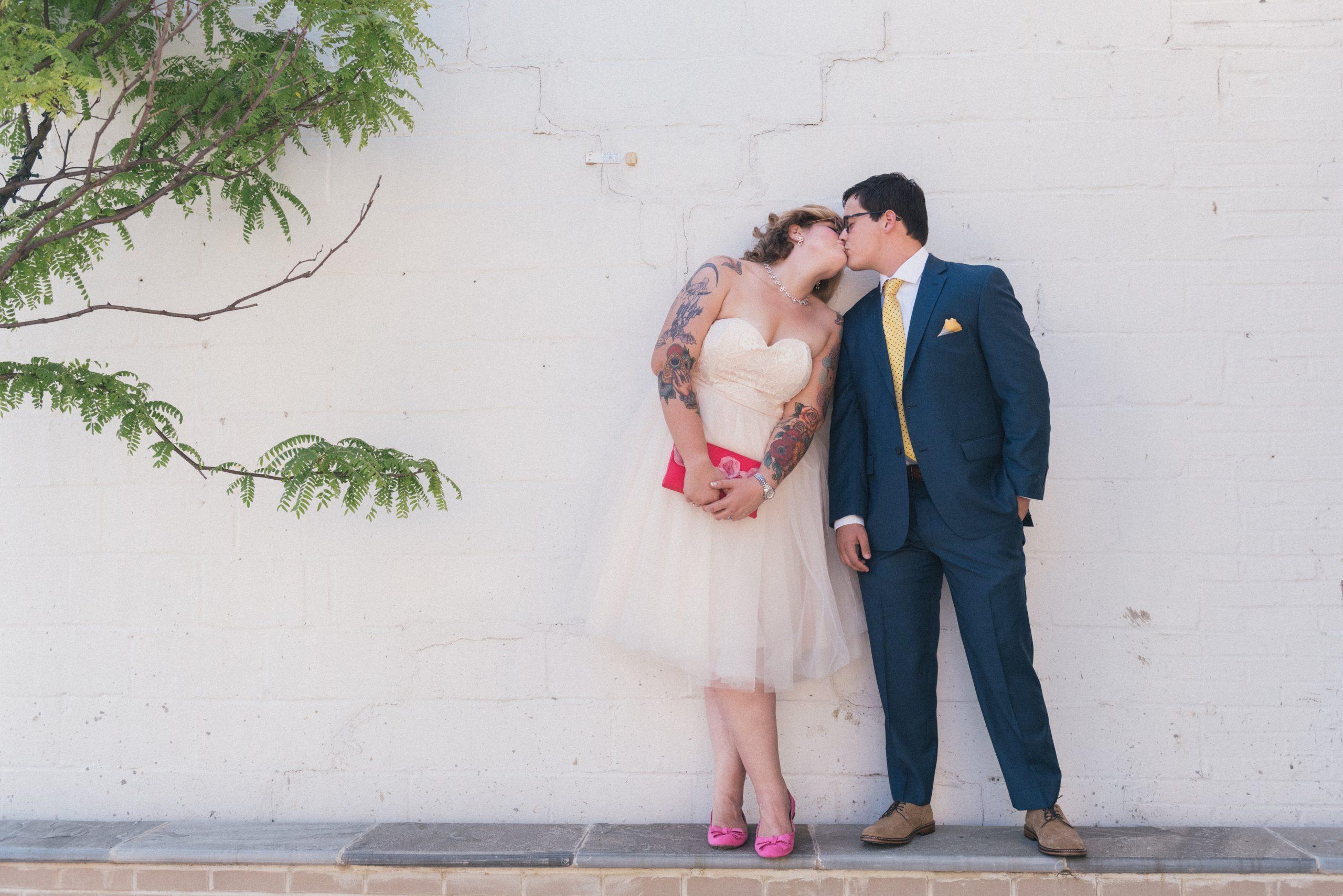 Arlington Virginia Wedding Pink Green White Blue