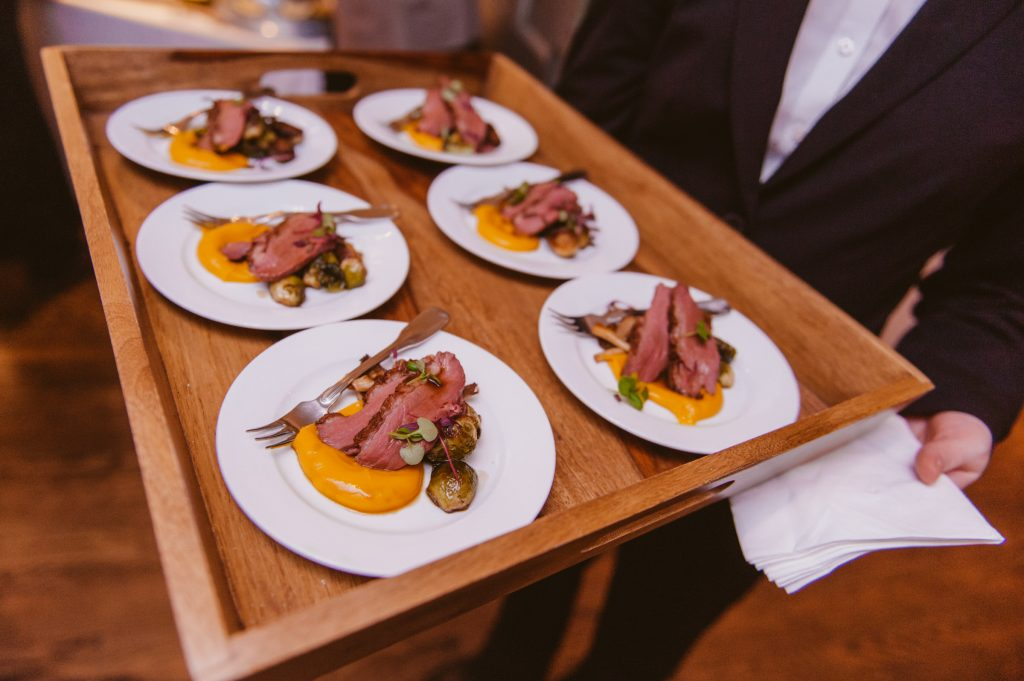 A beef entree from Well Dunn Catering at the Fathom Gallery in Washington, DC.